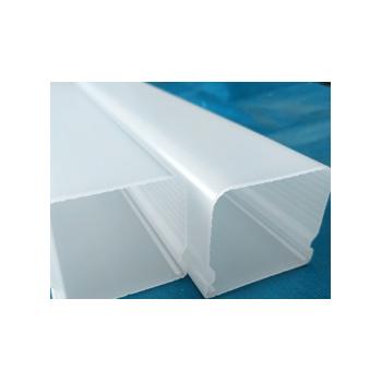 厂家定制加工led户外照明灯具大功率三防灯塑料灯罩乳白pc管