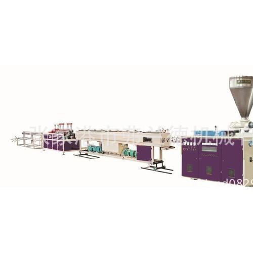 定制张家港塑料机械 PVC塑料管材生产线 一出二管材生产线
