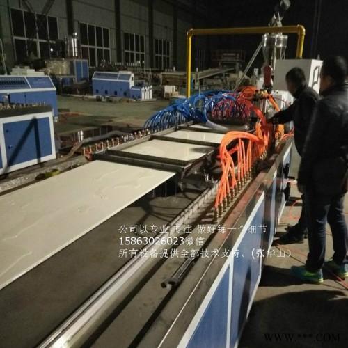 卓尔威SJ65/33塑料机械板材设备生产供应厂家 PVC竹木纤维集成墙板生产线