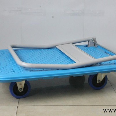 北京厂家批发塑料平板车 新款新式大塑料平板车 推拉4轮塑料板车