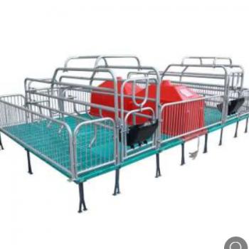 母猪产床复合板分娩产床热镀锌双体产床定位栏保育床主用养猪设备