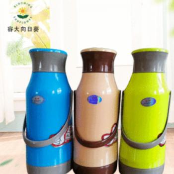 家用学生保温瓶热水壶厂家pp外壳礼品 塑壳保温瓶2L