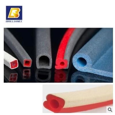 专业生产导电橡胶条/复合挤出条/高导电橡胶复合条