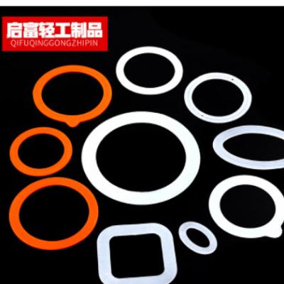 厂家供应食品级异形硅胶橡胶垫圈 橡胶垫圈 用于玻璃密封罐