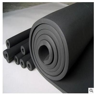 橡塑保温材料 橡塑保温板 b1级 黑色吸音隔热橡塑海绵板厂家定制