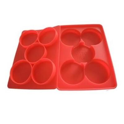 可冷冻烘烤硅胶肉饼模5孔圆形硅胶模