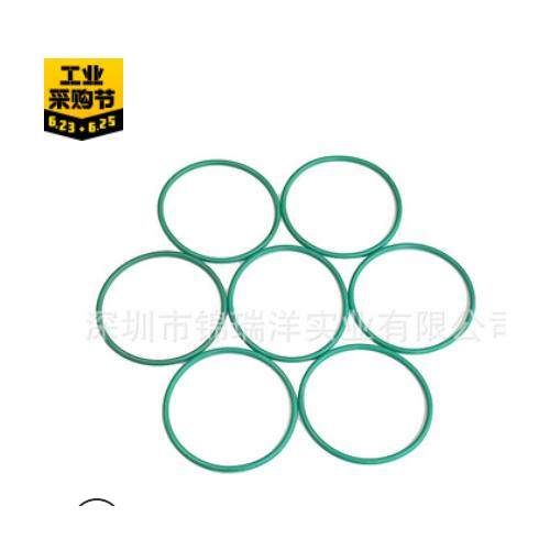 绿色氟橡胶O型圈线径1外径3-40耐高温防腐蚀硅胶密封圈异形件定做