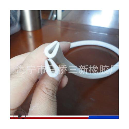 乳白色包边条 包边用 防撞/ 密封/ 耐温 U型硅胶条