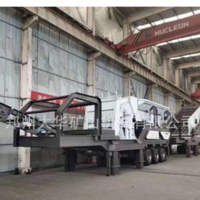 吉林辽源移动站破碎站时产600吨破碎筛分移动站