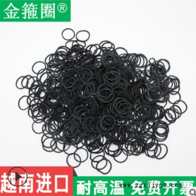 包邮06*0.9黑色厂家直销越南原装皮筋橡皮筋橡胶圈橡皮圈盘发批发